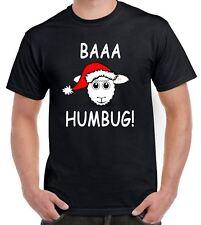 Baaa Humbug Sheep with Santa Hat Christmas Funny Men's T-Shirt