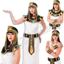 Nuevas señoras Cleopatra Egipcio Reina Egipto Romano Antiguo Oro Fancy Dress Costume