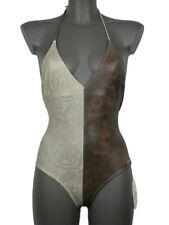 Costume da Bagno donna intero Sabbia Cuoio tg S Stretch Cdi Lipari mare piscina