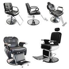 Heavy-duty Black Hydraulic Barber Chair Hair Beauty Salon Equipment