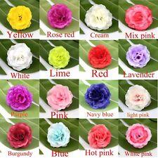 20-50P Small Silk Flower Tea Rose Artificial Flowers Head Bulk Wedding Decor