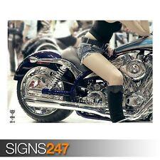 Cartel De Bici del motor (AC369) - imagen arte cartel impresión de foto A0 A1 A2 A3 A4