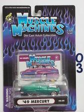 MUSCLE MACHINES  '49 MERCURY 02-30 GREEN  1:64 SCALE