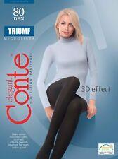 CONTE Tights Triumf 80 Den | Microfibra Warm Winter Pantyhose | FREE Shipping