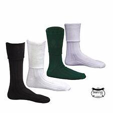 New Men's Scottish Highland Wear Kilt Hose Socks S/M/L/XL 4 COLOURS