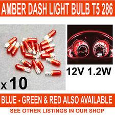 AMBER CAR DASH LIGHT or INSTRUMENT PANEL BULB T5 286 12V 1.2W CAPLESS