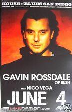 Gavin Rossdale 2009 San Diego Concert Tour Poster - Bush, Institute, Alt Rock