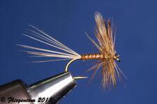 Fliegentom 3 Stück Trockenfliegen - Braune Biotbody Dun