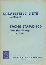 Sachs STAMO 100 Ersatzteilkatalog 423.6/2 1960 Stationärmotor Deutschland Europa