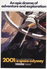 2001 A Odissea nello spazio 1968 allungato tela Movie Film Poster Art Print SC-FI 70 S