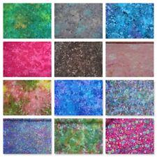 "Hand Dyed Cotton Batiks Multicoloured Tie Dye Shawls Scarfs Crafts Fabric 54"""