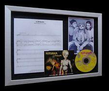 NIRVANA Lithium LIMITED Nod CD MUSIC FRAMED DISPLAY!!