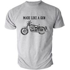 Royal Enfield-made come una pistola Logo T-Shirt Retrò Moto Heather 01532
