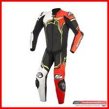Alpinestars Tuta Moto Racing Gp Plus V2 Bianco giallo rosso Fluo Pelle Intera