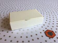 Premium fête de mariage Cake Slice boîtes-Blanc-Ivoire 100x60x30mm