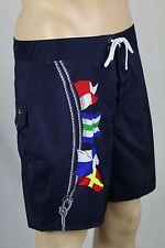 RLX Ralph Lauren Navy Blue Nautical Swim Shorts Trunks NWT