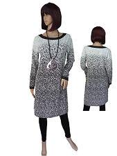 Leins´ elegantes edles Kleid schmal und figurbetont Weiß/Anthrazit Gr. M L XXL