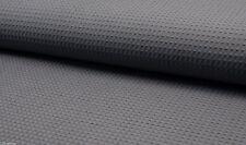 Baumwolle Waffel Pique Waben Stoff Material - 140cm breit dunkelgrau