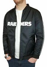 NFL Oakland Raiders Mens Bomber Jacket Coat Official Apparel