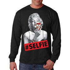 Marilyn Monroe Phone Selfie Pop Culture Sexy Movie Star Long Sleeve T-Shirt Tee