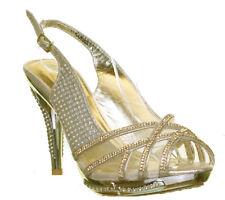 Premium Cordelia Womens Mid Heel Stiletto Heel Sandals