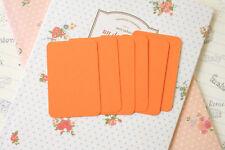 Mandarin Orange Business Cards 50pc blank wedding name place card pocket letters