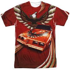 Authentic Pontiac Firebird Flames Sublimation Allover Front T-shirt S M L X 2X