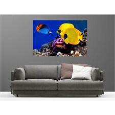 Tableaux toile déco rectangle poissons tropicaux 68832754