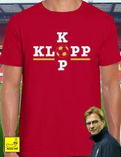Jurgen Klopp Kop Liverpool Champions League T-Shirt Football LFC YNWA Salah Tee