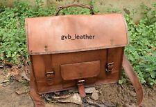 Leather Men's Messenger Bag Casual Laptop Computer Crossbody Bag Business  Bags
