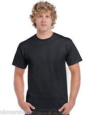 3 Pack Black Gildan T-Shirts, All Sizes S M L XL XXL