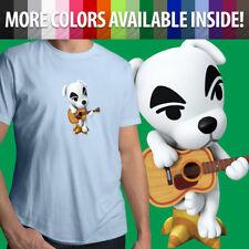 Animal Crossing K.K. Slider Guitar Musician Dog Unisex Mens Tee Crew T-Shirt