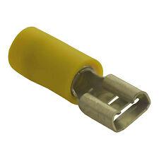 Flachsteckhülsen Flachstecker Gelb Breite:9,5mm Dicke: 1,2mm Nenngröße: 6mm²
