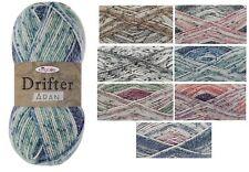 King Cole Drifter Aran Cotton Wool Acrylic Mix 100g Knitting Yarn Self Striping