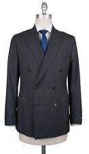 New $4500 Luigi Borrelli Dark Gray Wool Solid Suit - (LB201970R8)