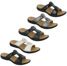 Heavenly Feet Gina Femmes Sandales à Enfiler Matelassé Comfort Ouvert Bout UK4-8
