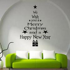 Christmas Tree Wall Sticker Xmas Wall Decal Festive Shop Home Decor New LD