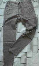 Hose Stoffhose Jeans Größe 44 bis 54 Braun Metallic Look Große Größen (410) NEU