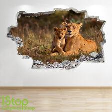 LIONNE Autocollant Mural 3D LOOK - chambre salon nature animal Z64