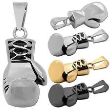 1Colgante de acero inoxidable color plata oro para collares puño guante de boxeo
