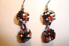 Indian ,Handmade Beaded,Round, Drop  Earrings~A~uk seller