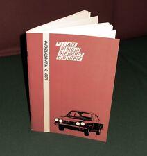 Uso e manutenzione Fiat 850 Sport Coupé Coupè Owner's manual Instruction Book-