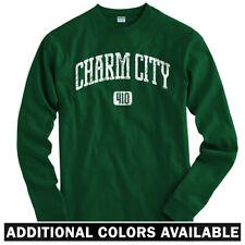 Charm City 410 Baltimore Long Sleeve T-shirt LS - Orioles Ravens - Men / Youth