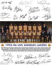 1995-96 LOS ANGELES LAKERS 8X10 TEAM PHOTO PICTURE MAGIC JOHNSON AUTO