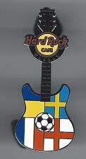 Hard Rock Cafe WARSAW Soccer Flag Guitar Pin 2. (PPP)