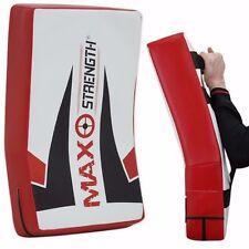 THAI Kick Boxing Sciopero Scudo Curvo Braccio Pad MMA Fuoco Muay Punch Mitt Sports