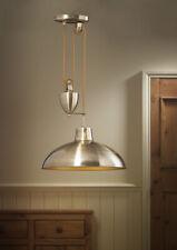 675dfbb91bb6 Rise & Fall Ceiling Light Pendant Pull Down Fitting Brass/Nickel Finish 60W
