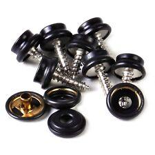 20 x 15mm noir 3 partie Heavy Duty bouton pression avec vis vêtements fermeture sécurisée