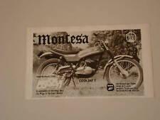 advertising Pubblicità 1975 MOTO MONTESA COTA 247 T