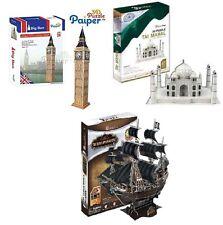 PAPIER Cubicfun 3D Rompecabezas Big Ben Taj Mahal Queen Anne's Revenge Barco